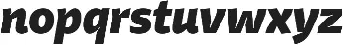 Stena ExtraBold Italic otf (700) Font LOWERCASE
