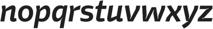 Stena SemiBold Italic otf (600) Font LOWERCASE