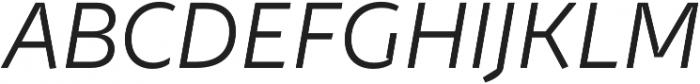 Stena Thin Italic otf (100) Font UPPERCASE