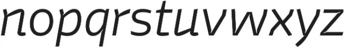 Stena Thin Italic otf (100) Font LOWERCASE