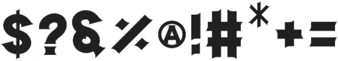 Stencil otf (400) Font OTHER CHARS