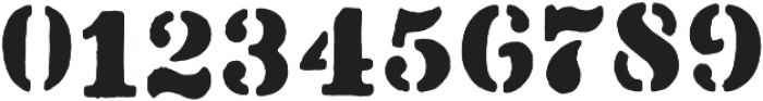 Stencil1952 Regular otf (400) Font OTHER CHARS