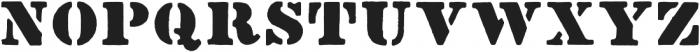Stencil1952 Regular otf (400) Font UPPERCASE