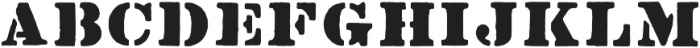 Stencil1952 Regular otf (400) Font LOWERCASE