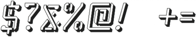 Stenciliqo 4F Italic Extruded otf (400) Font OTHER CHARS