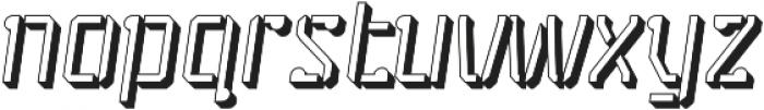 Stenciliqo 4F Italic Extruded otf (400) Font LOWERCASE