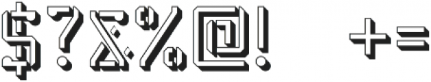 Stenciliqo 4F Regular Extruded otf (400) Font OTHER CHARS