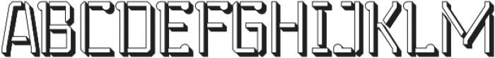 Stenciliqo 4F Regular Extruded otf (400) Font UPPERCASE