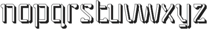 Stenciliqo 4F Regular Extruded otf (400) Font LOWERCASE