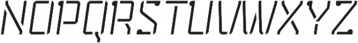 Stenciliqo 4F otf (400) Font UPPERCASE