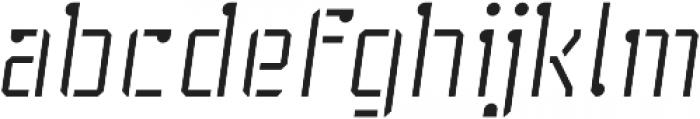 Stenciliqo 4F otf (400) Font LOWERCASE