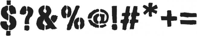 Stencimilla ttf (400) Font OTHER CHARS