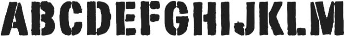 Stencimilla ttf (400) Font UPPERCASE