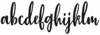 Stephanie Script otf (400) Font LOWERCASE