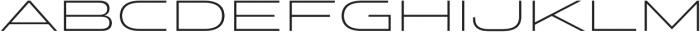 Stereo Gothic 200 otf (200) Font LOWERCASE