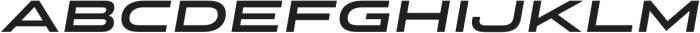 Stereo Gothic 700 Italic otf (700) Font LOWERCASE