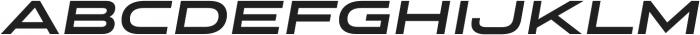 Stereo Gothic 750 Italic otf (400) Font UPPERCASE