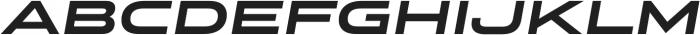 Stereo Gothic 800 Italic otf (800) Font UPPERCASE