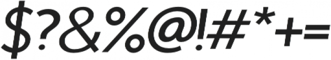 Sterling Silver Sans Italic otf (400) Font OTHER CHARS