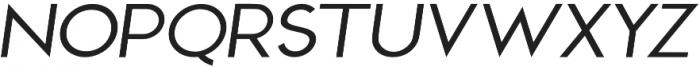 Sterling Silver Sans Italic otf (400) Font UPPERCASE