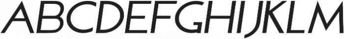 Sterling Silver Sans Italic otf (400) Font LOWERCASE