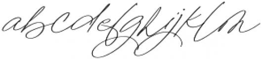 Sterling Silver Script otf (400) Font LOWERCASE