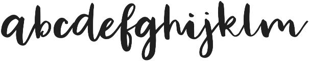 Sticky otf (400) Font LOWERCASE
