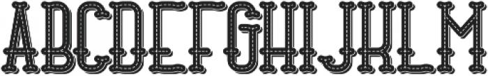 Stitch TextureAndShadow otf (400) Font LOWERCASE