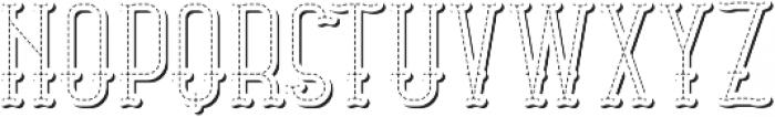 Stitch TextureAndShadowFX otf (400) Font UPPERCASE