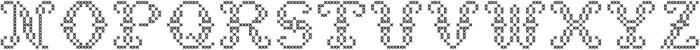 StitchCross ttf (400) Font UPPERCASE