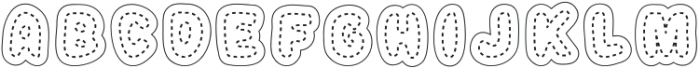 Stitched Letters Regular otf (400) Font UPPERCASE