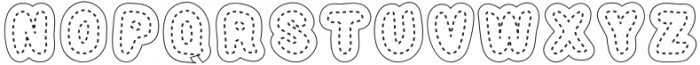 Stitched Letters Regular otf (400) Font LOWERCASE