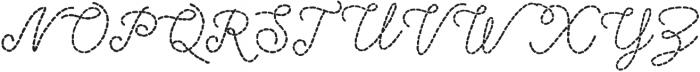 Stitched otf (400) Font UPPERCASE