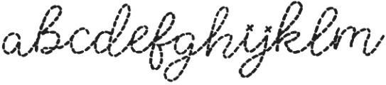 Stitched otf (400) Font LOWERCASE