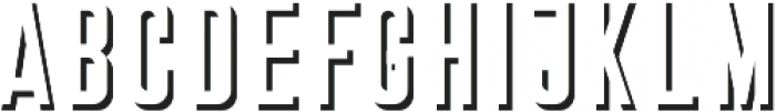Stockport Shadow otf (400) Font LOWERCASE