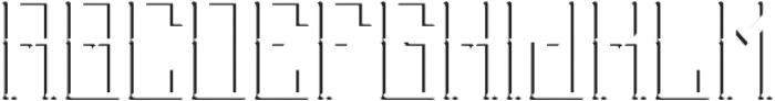 Stockport ShadowFX otf (400) Font LOWERCASE