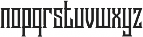 Stonebangs Typeface otf (400) Font LOWERCASE
