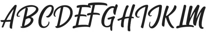 Storing otf (400) Font UPPERCASE