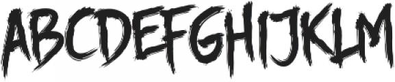 Story Brush otf (400) Font LOWERCASE