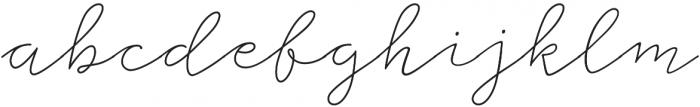 Storyteller Script Light Casual otf (300) Font LOWERCASE