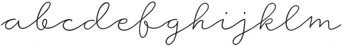 Storyteller Script Light otf (300) Font LOWERCASE