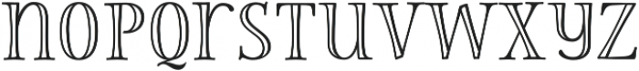 Storyteller Serif Engraved otf (400) Font LOWERCASE