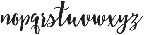 Storywells otf (400) Font LOWERCASE