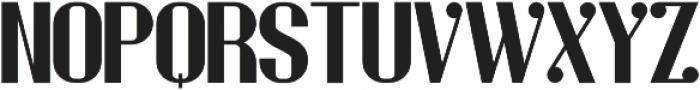 Stout Regular otf (400) Font UPPERCASE