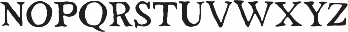 Strange Times Regular otf (400) Font UPPERCASE