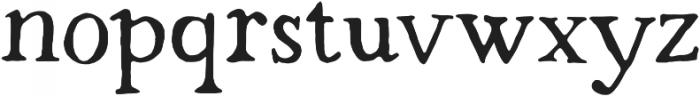 Strange Times Regular otf (400) Font LOWERCASE