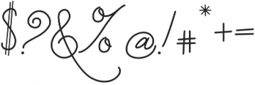 Strangelove Pen otf (400) Font OTHER CHARS