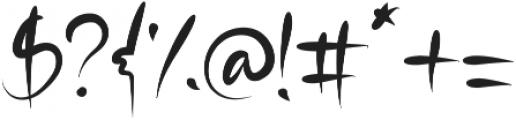 Stranger otf (400) Font OTHER CHARS