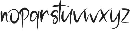 Stranger otf (400) Font LOWERCASE