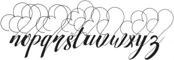 Strawberry Love Big otf (400) Font LOWERCASE